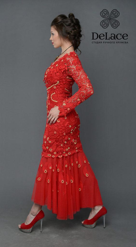 """Студия """"Де Лейс"""" платья, связанные крючком, пошив на заказ."""