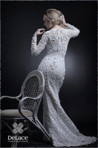 Свадебное платье связанное крючком.