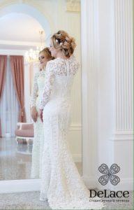 """Модели. Свадебное платье """"Жемчужина"""" связанное крючком."""